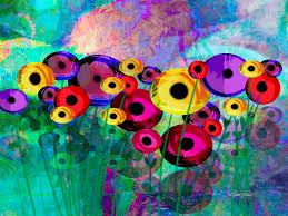 flower painting flower power abstract art by ann powell