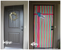 ... wrapping paper front door