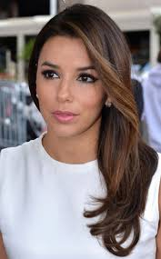 eva longoria hairstyles side swept hairstyle