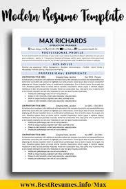 Richards Resume Modern Resume Template Max Richards Architecture Engineering