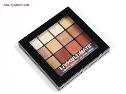 nyx ultimate shadow palette warm neutrals 6