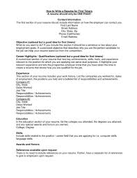 Awesome Writing First Resume Template Ideas Documentation
