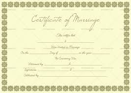 Blank Marriage Certificate Template Small Box Design Doc Formats