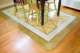 Paint A Linoleum Floor Mat For Under The Kitchen Table Very Easy To