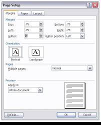 Standard essay page margins in html
