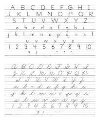 Mathsheet Printable Cursive Handwriting Practice Sheets