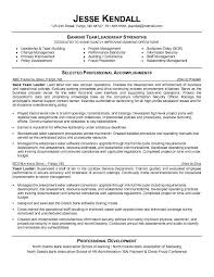 Resume Examples For Leadership Positions