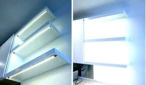 floating shelf with led lights glass shelves under cabinet lighting underneath l