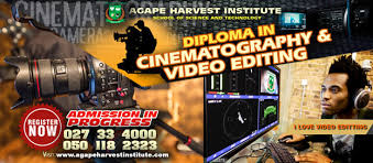diploma in cinematography and video editing agape harvest institute about the course