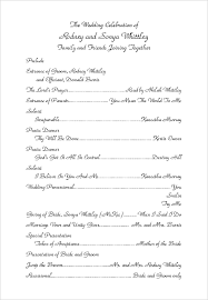 sample wedding program wording wedding programs wording examples program contemporary equipped like