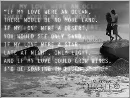 If My Love Were An Ocean Romantic Quote Images Quote Custom Quotes About The Ocean And Love