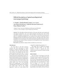 Pdf Biblical Descriptions Of Spinal Neurological And Neurosurgical