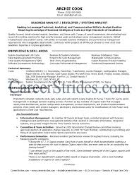 Ideas Of Systems Analyst Resume Summary Nice Business Analyst