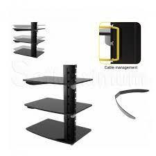 adjustable triple av shelf wall mount