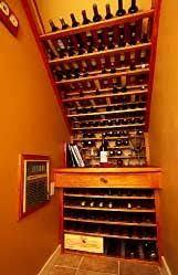 basement stairs storage. Under Stair Wine Storage Basement Stairs