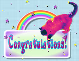 Image result for congratulations cat graphic
