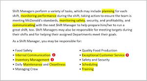 Fast Food Restaurants Part Time Jobs Fast Food Resume Example