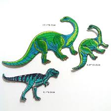 3D <b>embroidery dinosaur patches</b> for <b>clothing Embroidered</b> ironing ...
