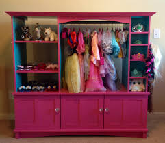 Diy Dress Up Storage Dress Up Closet Made Out Of An Old Entertainment Center Abbeys