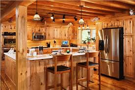 image of log cabin kitchens decor
