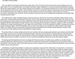 organ donation essay essay words studymode organ donation essay example essays