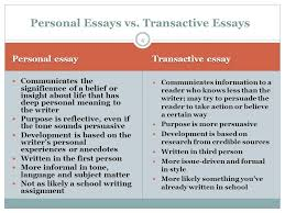 personal writing the memoir and the personal essay ppt video personal essays vs transactive essays