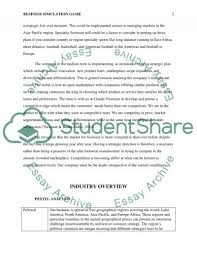business simulation game individual report essay  business simulation game individual report essay example