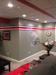 Ohio State Bedroom Decor Buckeyes Man Cave The Front Row Ohio State Pinterest Caves