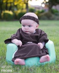 robin hood family costumes a simple friar tuck costume for a baby snaphappymom