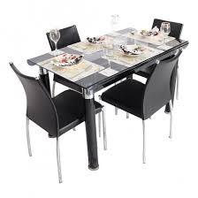 glass dining furniture. Bent-4 Seater Dining Table Set -Metal \u0026 Glass Furniture I