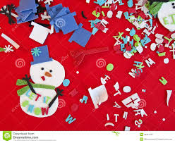Christmas Craft Children Christmas Craft Art Supplies And Material Royalty Free