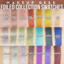 makeup geek foiled shadows makeup geek foiled eyeshadows foil eyeshadows makeup geek swatches eye shadow swatches