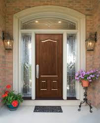 Front Doors  Cool Front Door With Round Window  Composite - Exterior transom window