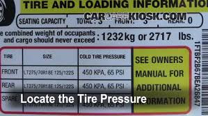 2002 Ford Explorer Tire Size Chart Properly Check Tire Pressure Ford F 250 Super Duty 2008