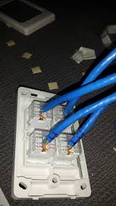 wiring up a new house ethernet a walk through reckoner remember all those cables hanging off the wall in the garage now they re neat and tidy this is the same bunch of cables running through a beam in the