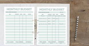 Printable Monthly Expense Sheet Monthly Budget Planner Free Printable Budget Worksheet