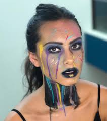 avant garde look by eleni lembesis as shot by barry eichner at the skin games makeup