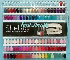 Nail Color Chart Cnd Shellac Salon Nail Tip Color Chart Palette 102 Display