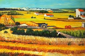 harvest at arles c 1888 by vincent van gogh the harvest oil painting reions van gogh poster on canvas by liuliu811 dhgate com