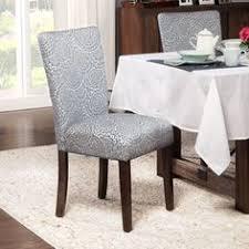 homepop navy and cream modern fl parson chairs set of 2 navy and cream modern fl blue polyester room chairsdining