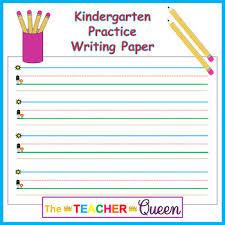 Writing Lines For Kindergarten Kindergarten Practice Writing Paper