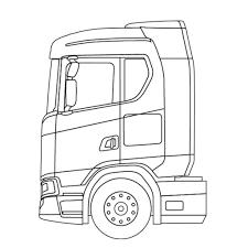 Nieuwe Generatie Scania Nederland Within Vrachtwagen Tekening