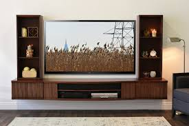 Beauteous Wall Mount Entertainment Tv Stand Curve Piece Mocha Wall Mounted  Floating Tv Stands Page Woodwaves