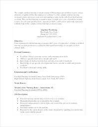 Resume For Cna Position Best Cna Sample Resume Resume Samples Luxury Free Sample Certified