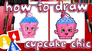 How To Draw Cupcake Chic Shopkins Youtube