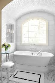 Tiled Rug Under Tub Hmmm Make MOST Of Floor Basket Weave Or - White marble bathroom
