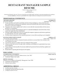 sample fast food resume peaceful design restaurant resume sample restaurant  manager resume template sample fast food .
