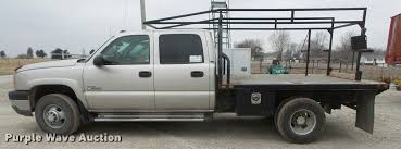 2005 Chevrolet Silverado 3500 Crew Cab flatbed pickup truck ...