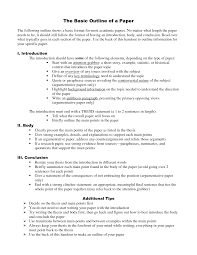 best photos of basic paper outline english essay outline example  basic research paper outline