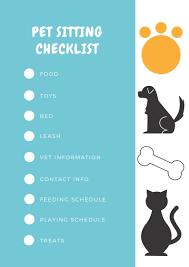 Cat Sitter Checklist Info Sheet Gen Y Girl